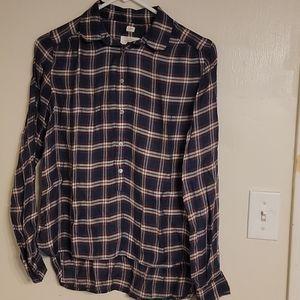 "LOFT Plaid ""The Softened Shirt"" - Size XS"